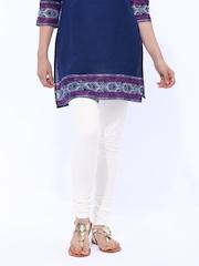 W Women White Churidar Leggings