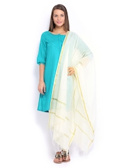 W Women White Dupatta