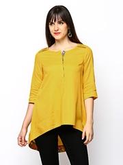 W Women Mustard Yellow Kurti