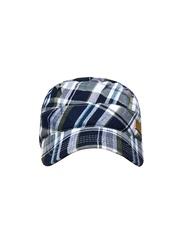 Wrangler Men Blue Vintage Checks Cap