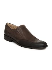 WHITE Men Brown Leather Semi-Formal Shoes