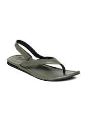 WOKA Men Olive Green Sandals