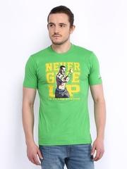 WWE Men Green Printed John Cena T-shirt