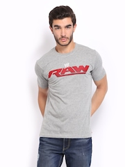 WWE Men Grey Printed T-shirt