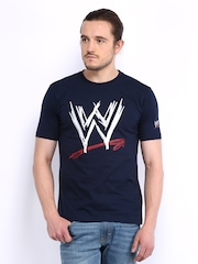 WWE Men Navy Printed T-shirt