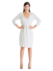 Wendell Rodricks for Stylista White A Little Of Love Jersey Dress