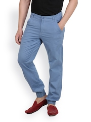 White Kalia Men Blue Relaxed Fit Chino Trousers
