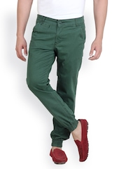 White Kalia Men Green Relaxed Fit Chino Trousers