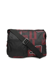 Wildcraft Black Pace Red Printed Sling Bag