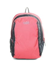 Wildcraft Girls Pink & Grey Pluto Backpack