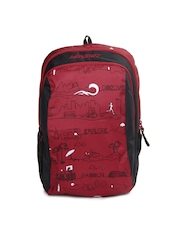 Wildcraft Kids Red & Black Scoot LD Printed Backpack