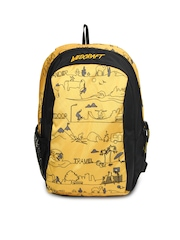 Wildcraft Kids Yellow & Black Scoot LD Backpack