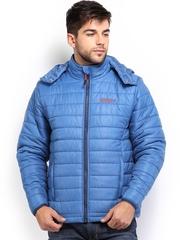 Wildcraft Men Blue Husky Hooded Padded Jacket