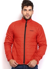 Wildcraft Men Orange Husky Quilted Jacket