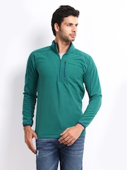 Wildcraft Men Teal Green Sweatshirt