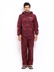 Wildcraft Men Maroon Clothing Set