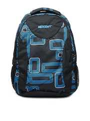 Wildcraft Unisex Black & Blue Printed Backpack