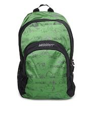 Wildcraft Unisex Green & Black Sail LD Printed Backpack