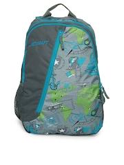 Wildcraft Unisex Grey Printed Backpack