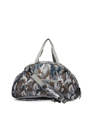 Wildcraft Unisex Grey Printed Convertible Duffle Bag