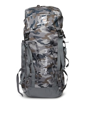 Wildcraft Unisex Grey Printed Rucksack Bag