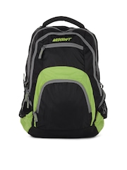 Wildcraft Unisex Black and Green Hopper Backpack