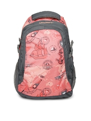 Wildcraft Unisex Pink Printed Backpack