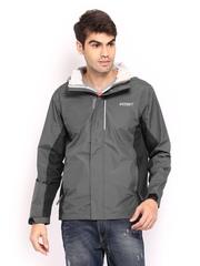 Wildcraft Men Grey Hooded Rain Jacket