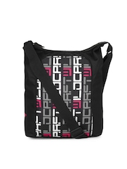 Wildcraft Women Black & Pink Sling Bag