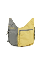 Wildcraft Women Grey & Yellow Grabit Sling Bag