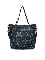 Wildcraft Women Black & Blue Frida Ray Handbag