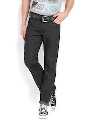 Wills Lifestyle Men Black Slim Fit Jeans
