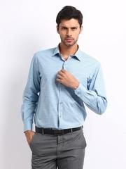 Wills Lifestyle Men Blue Regular Fit Shirt