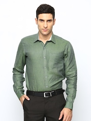 Men Linen Slim Fit Formal Shirt