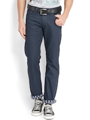 Wills Lifestyle Men Navy Slim Fit Jeans