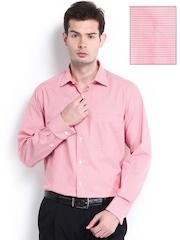 Wills Lifestyle Men Pink Formal Shirt