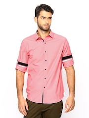 Wills Lifestyle Men Pink Slim Fit Casual Shirt