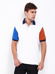 Wills Lifestyle Men White Polo T-shirt