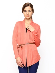 Wills Lifestyle Women Coral Orange Shrug
