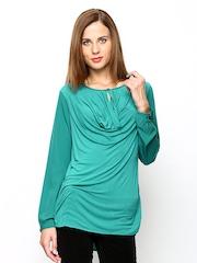 Wills Lifestyle Women Green Top