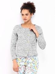 Wills Lifestyle Women Grey Melange Jacket