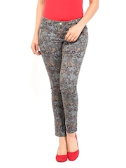 Wills Lifestyle Women Multicoloured Floral Print Trousers