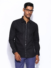 Wills Signature by Rohit Bal Men Black Casual Shirt