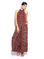 Wills Signature by Ritu Kumar Women Multicoloured Bohemian Wide Legged Printed Jumpsuit