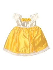 Winakki Girls Cream Coloured & Yellow Dress