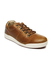 Men Tan Brown Leather Casual Shoes Woodland