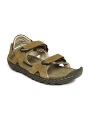 Woodland Men Brown Leather Sandals