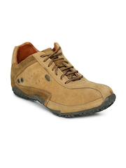 Woodland Men Camel Brown Leather Casual Shoes