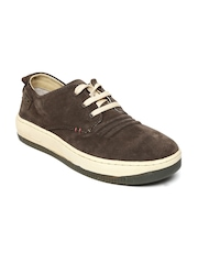 Woodland Men Dark Brown Leather Casual Shoes