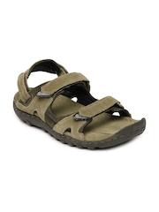 Woodland Men Green Suede Sandals